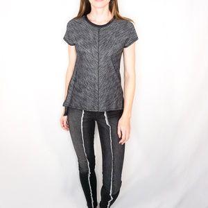 LULULEMON Dark Heather Grey Tech Tee Short Sleeve